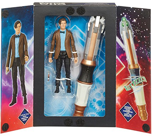 """11th Doctor + Sonic Set - $13. For the price, you get an 11th Doctor 5.5"""" action figure and a non-extending Sonic Screwdriver. Great stocking stuffer, especially for the value. Can be found here: http://amzn.to/2f99x8c"""