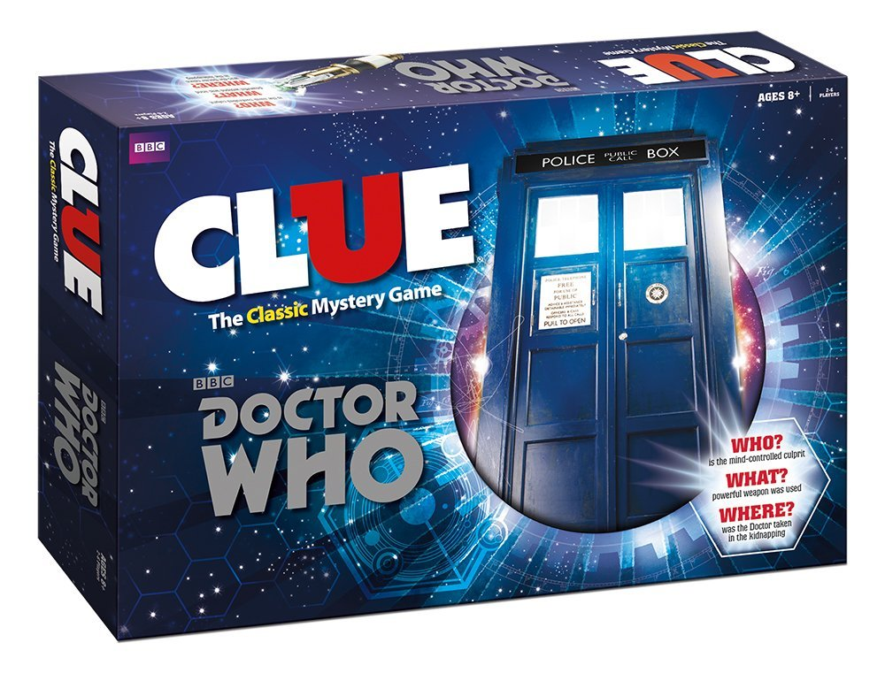 Doctor Who Clue - $25-$40. It's Doctor Who and it's Clue. What's not to love?  http://amzn.to/2h2P2HL
