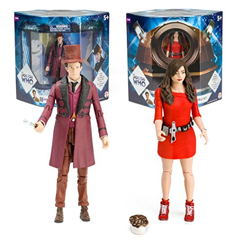 """Impossible Girl Set - $15. Not only do you get two 5.5"""" figures for $15, the packaging on this is top notch. You get a double sided package window, with one side featuring the Doctor in his Victorian attire and Oswin Oswald shown through the eye of a Dalek. Can be found here: http://amzn.to/2g5XEwE"""
