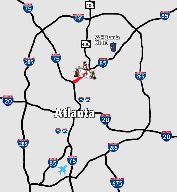 I 85 Collapse Atlanta Map.How To Get To Wholanta And Avoid The Part Of I 85 Where The Bridge